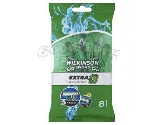 Одноразовый станок WILKINSON SWORD EXTRA 3 SENSITIVE    1 уп. = 12 шт. (Германия)