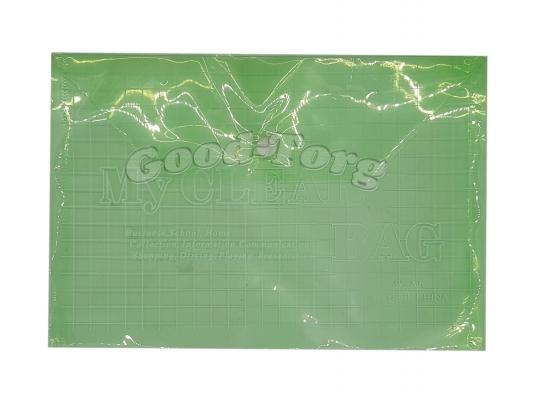 Папка пластиковая прозрачная А4 на кнопке, упаковка 12 штук