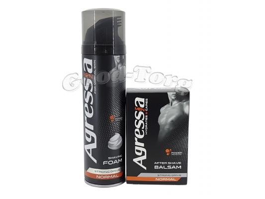 Набор мужской Agressa normal (пена для бритья и бальзам после бритья)