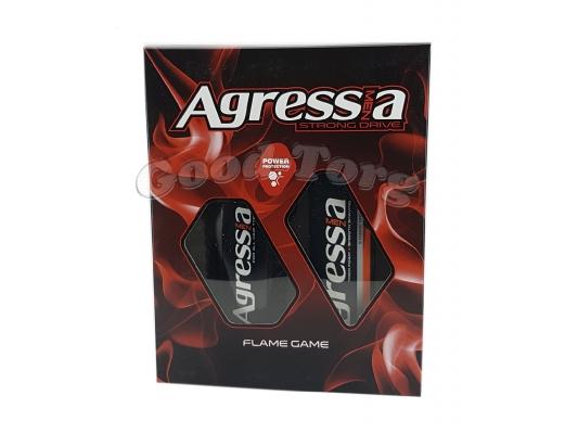 Набор мужской Agressa Flame Game (Шампунь и крем для бритья)
