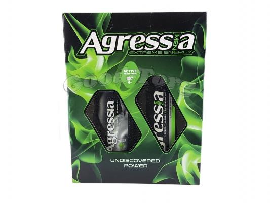 Набор мужской Agressa Undiscovered Power Game (Шампунь и крем для бритья)