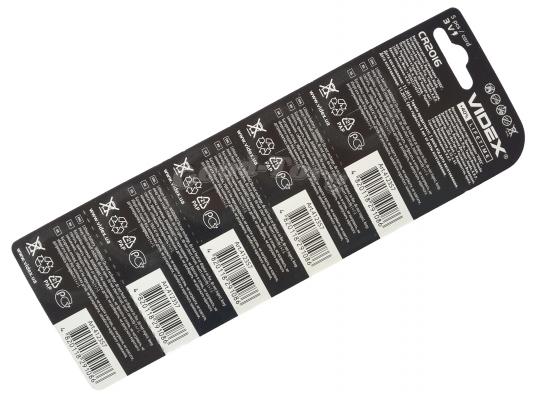 Батарейка Videx, R2016, 5 шт.