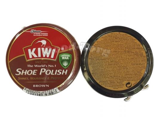 KIWI - Крем для обуви 50 мл. (коричневый)