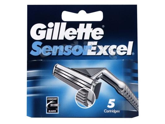 Картриджи Gillette Sensor Excel, оригинал, 1уп=5шт. (Польша)