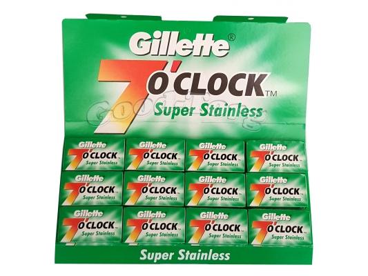 Лезвия Gillette 7 o'clock -оригинал 20пач.×5шт.(ОАЭ)