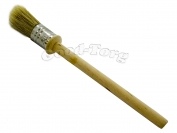 Кисть круглая, №25, 19.5*2 см, деревянная ручка 1 пач. = 5 шт.