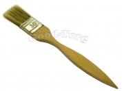 Кисть плоская, тонкая, №20, 19*3*0.5 см., деревянная ручка 1 пач. = 5 шт.