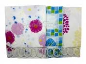 Штора для ванны N1  цветные размер 180×180 см