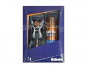 Набор для мужчин Gillette ( гель для бритья, станок для бритья )
