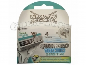 Wilkinson QUATTRO Titanium sensitive 4 насадки для стонка