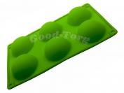 Силиконовая форма для выпечки Полусфера 6 Гл. 3 см. Дл 29 см. Шир. 17,5 см. диам. ячеек 7 см.