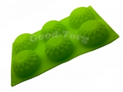 Силиконовая форма для выпечки Хризантема 6 Гл. 4 см. Дл 28 см. Шир. 17 см. диам. ячеек 7 см.