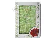 Полотенца Китай - набор 2 шт. цвет зеленый, лицо 35*70 см. + баня  70*140 см.