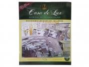Постельное белье Casa de Lux (зеленая упаковка) N16, полуторный (Пододеяльник 1 шт. 220х145 см. Простыня 1 шт. 220х145 см. Наволочка 2 шт. 70х70 см.)
