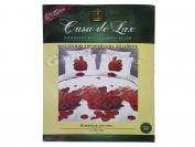 Постельное белье Casa de Lux (зеленая упаковка) N18, двойной (Пододеяльник 1 шт. 215х175 см. Простыня 1 шт. 215х180 см. Наволочка 2 шт. 70х70 см.)
