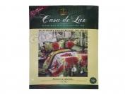 Постельное белье Casa de Lux (зеленая упаковка) N19, евро (Пододеяльник 1 шт. 220х200 см. Простыня 1 шт. 220х200 см. Наволочка 2 шт. 70х70 см.)