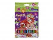 Карандаши J.Otten 18 цветов рисунки для девочек
