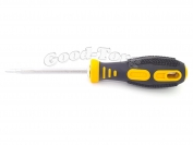 Отвертка односторонняя с резиновой ручкой 23 см. плоским намагниченным кончиком.