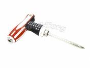Отвертка Г образная америка 20 см. с фиксатором длины, двухсторонний + отверстие для прямого использования