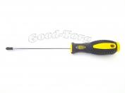 Отвертка с резиновой ручкой  25 см. крестик ,односторонняя с намагниченным концом