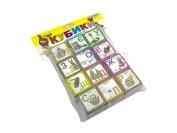 Кубики пластик украинский алфавит