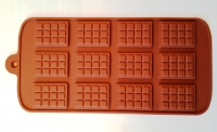 Силиконовая форма вафля из 12 шт. (21 × 10.5 см.)