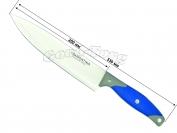 Нож на планшете №5, синяя резиновая ручка самая широкая, 334 мм., Китай.