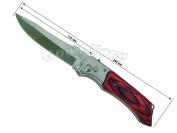 Нож выкидной №3, 265 мм., большой, деревянная коричневая ручка (в пачке 12 шт.)