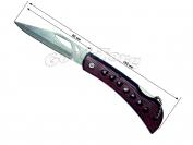 Нож раскладной, 180 мм., деревянная ручка с отверстиями (в пачке 12 шт.)