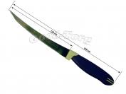 Нож на планшете простой пилка темно синяя  ручка Китай, 235 мм., 1 уп. = 12 шт. (продажа листом)