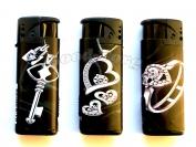 Зажигалка турбо с фонариком арт 936-1