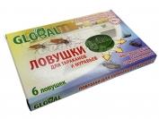 GLOBAL - Ловушки для тараканов и муравьев 6 ловушек.