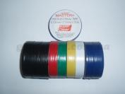 Изолента ПВХ Master+ цветная 21м. (в пачке 10шт. продажа пачкой)