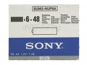 Батарейка Sony, AA R6, палец, 48 шт.