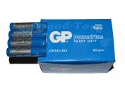 Батарейка GP PowerPlus солевая, AAA R03, микропалец, вид №2, 40 шт.