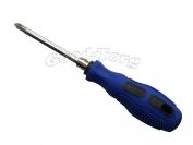 Отвертка синяя ручка двух конечная 20 см.