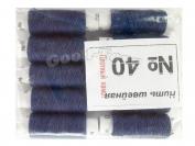 Нить швейная, № 40, 10 шт/уп, синий арт. 19