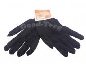 Перчатки черные двойные 640 - 10 пар