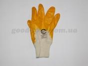Перчатки 8-ка, толстые оранжевые 12 пар. (продажа только упаковка )