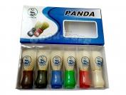 Помазок Panda, маленький цветной, 1 уп = 6 шт, 90 мм