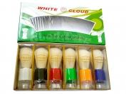 Помазок  WHITE CLOUD, зеленый, 1 уп = 6 шт., цветной большой 120мм