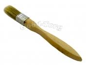 Кисть плоская, утолщенная, №20, 18*2*1 см., деревянная ручка. 1 пач. = 5 шт.