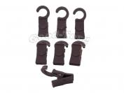 Крючки для шторы, 3,5*1 см., пластиковый крючок, бордо 100 шт.